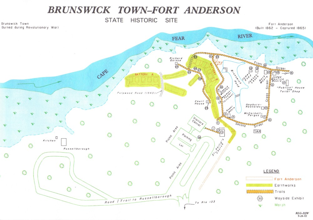 Map of Brunswick Town and Fort Anderson