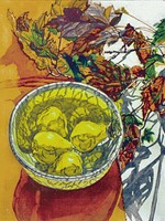 "Janet Fish ""Pears and Autumn Leaves"""