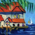 �Miniature Masterpiece� Paradise I, Acrylic by Susan Dade
