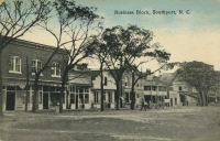 Postcard - Southport Business Block 1910s